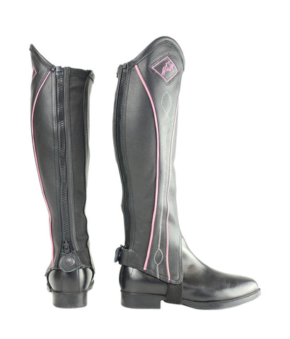 Two Tone Leather Gaiters