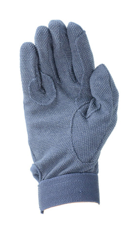 Cotton Pimple Gloves- Navy