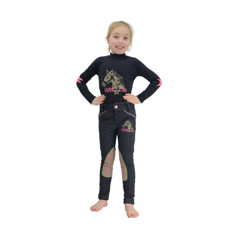 Riding Star Denim Jodhpurs by Little Rider age 3-4, 5-6 and 7-8 years
