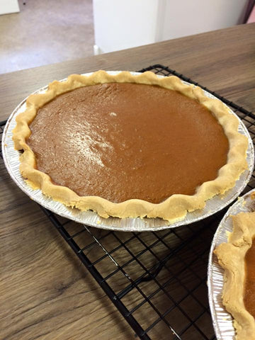 Baked Pumpkin Pie - Thanksgiving