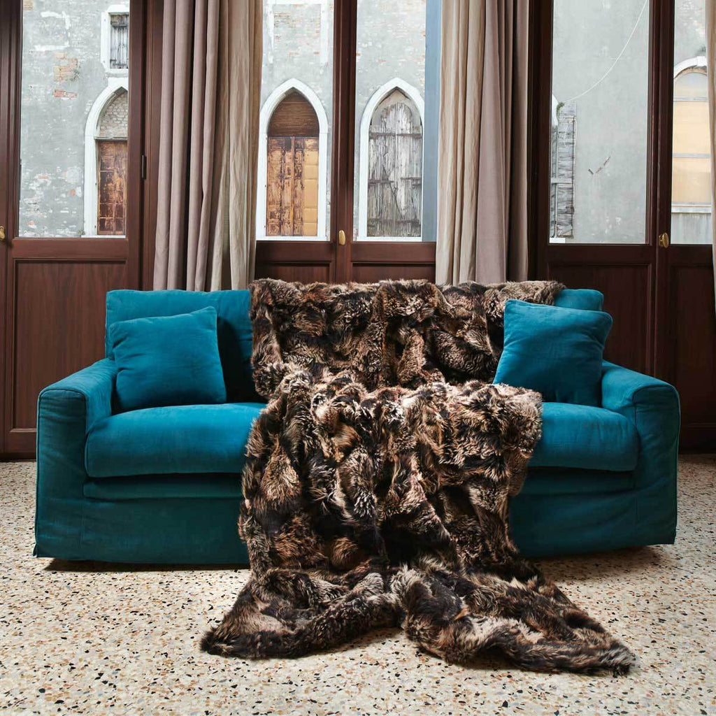 Luxury Real Fur Blankets, Throws & Pillows made with Authentic Toscana Sheep Fur