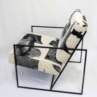 Ziggy Chair in Abstract B&W Fabric by JG SWITZER