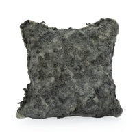 Charcoal Grey Wet Felted Curlicue Pillow - JG Switzer