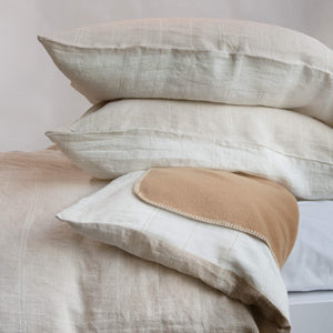 Ashley Linen Duvet Cover With Stripes