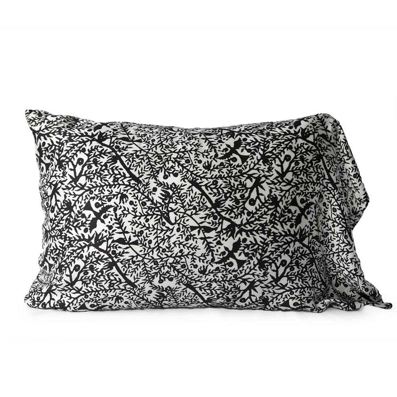 "Emilie Silk Pillow Slip ""BIRDSONG"" Exclusive Silk Fabric"