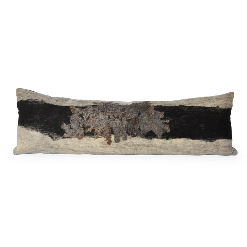 Wensleydale Felted Wool Body Pillow