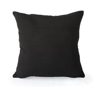 "Genesis Pillow in Painterly Black and White 24"" Square - JG Switzer"