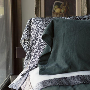 Emilie Silk Framed Luxury Merino Wool Blanket