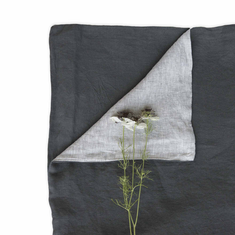 Ashley Linen Duvet Cover Dark Grey/Light Grey - JG Switzer