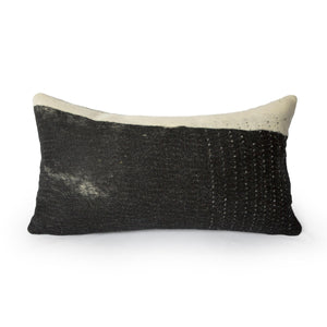 Wensleydale Felted Wool Pillow B&W