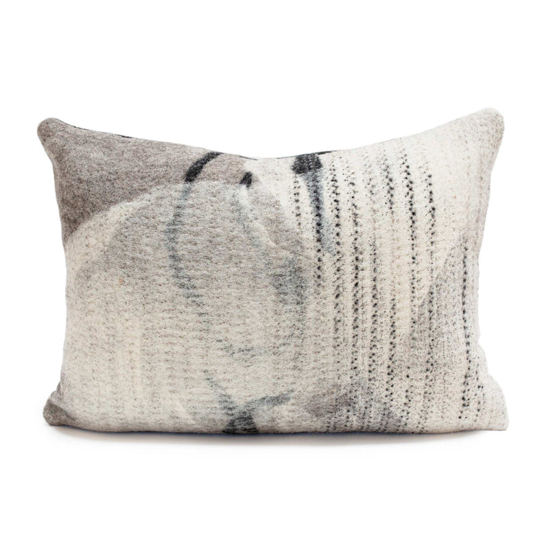 Felted Wool Pillow - Milky Way