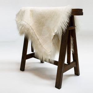 White Icelandic Sheep Hide