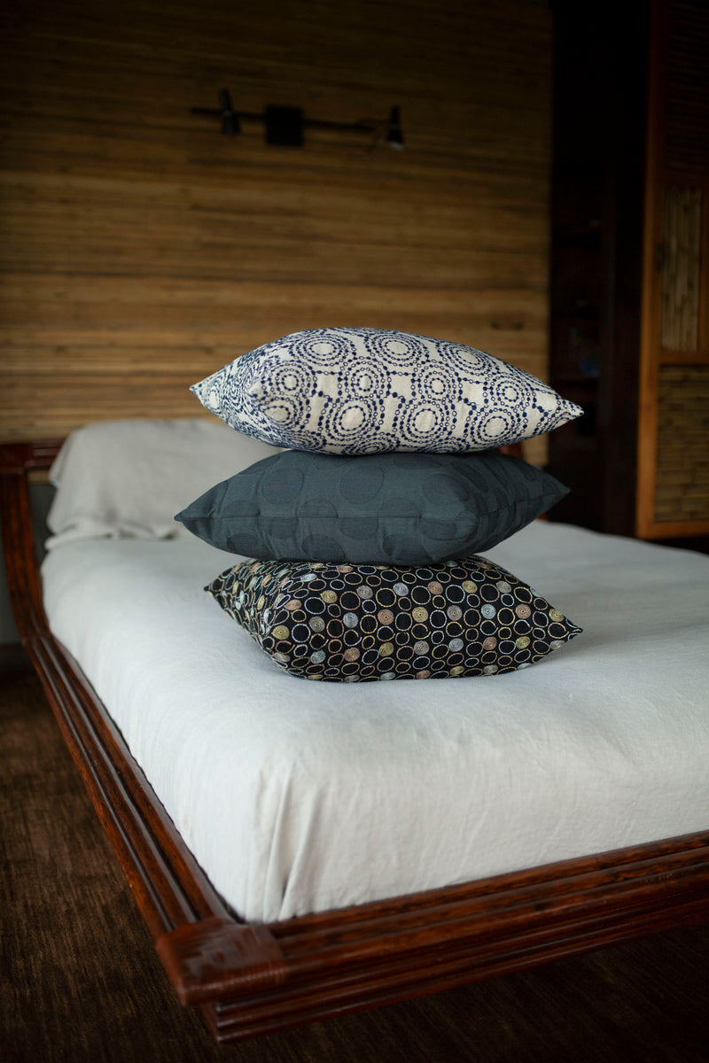 Kyoto Japan Cotton Pillow Dark Teal - JG Switzer