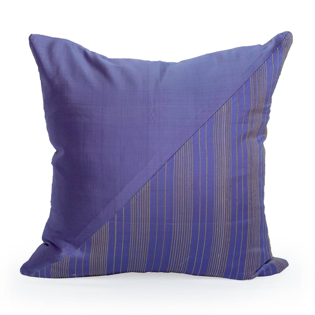 Lotus Flower Silk Pillow - Purple Triangle - JG Switzer