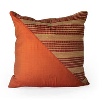 Lotus Flower Silk Pillow - Red Triangle - JG Switzer
