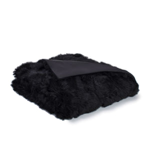 Real Fur Silk Lined Unforbidden Toscana Fur Throw - Medium Size