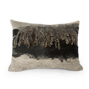 Wensleydale Wool Pillow Grey & Black - JG Switzer