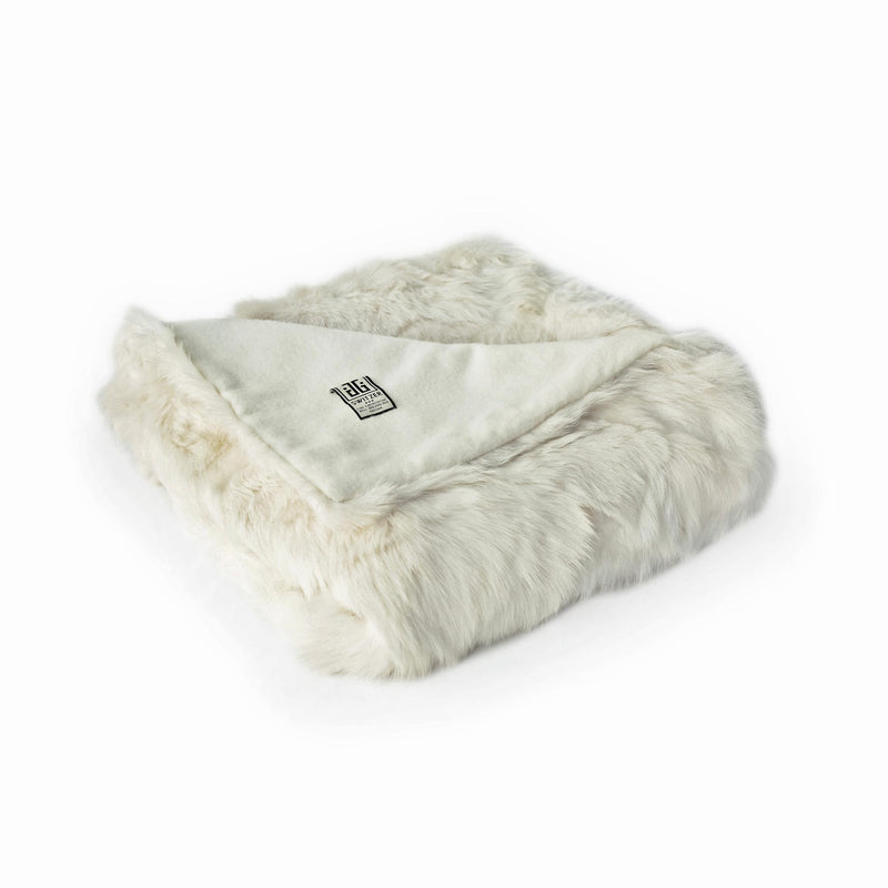 Toscana Sheep Fur Throw Lined with Cashmere/Wool blend