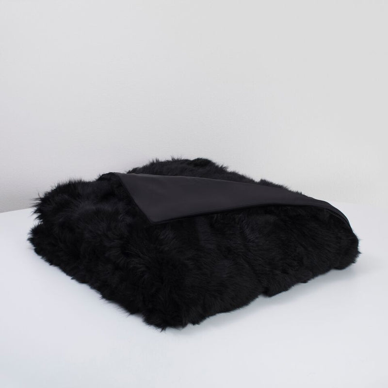 "Unforbidden Fur ""Upcycled"" Toscana Silk Lined Blanket"