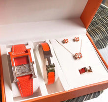 Hermes Boxset Watch Bracelet Earrings and Ring