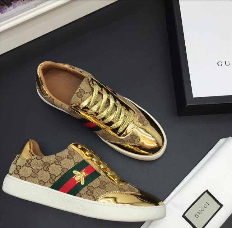 black and gold gucci shoes Shop