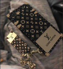 Black and gold lv phone case