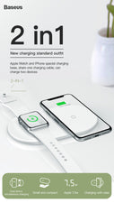 2 in 1 Wireless Charging Base for Apple Fans