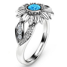 Sunflower stone ring