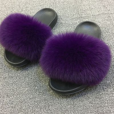 Real Fur Walking Slippers - Eshopping4life