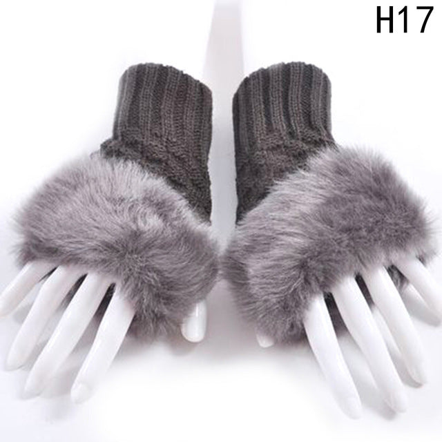 Griselda faux fur gloves - Eshopping4life