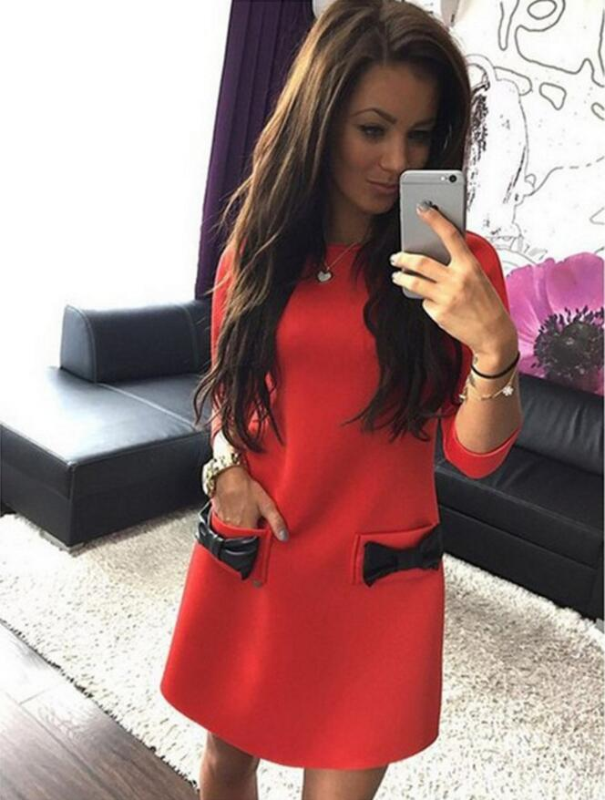 New Sleeve Dress With Side Pockets - Eshopping4life