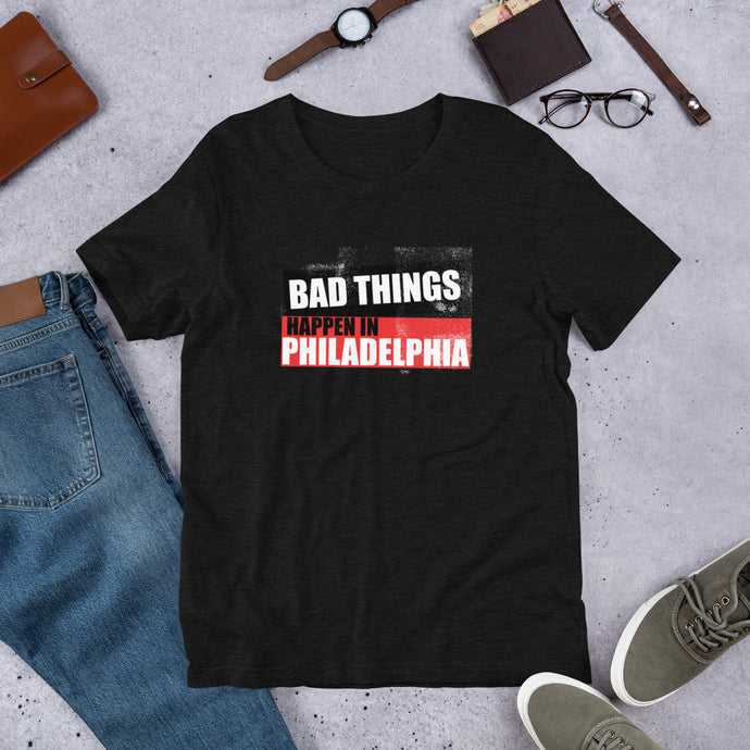 Bad Things Philadelphia block Short-Sleeve Unisex T-Shirt