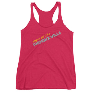 Super Chill Next Level 6733 Ladies' Triblend Racerback Tank