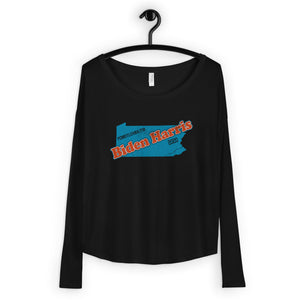 PA Biden Ladies' Long Sleeve Tee