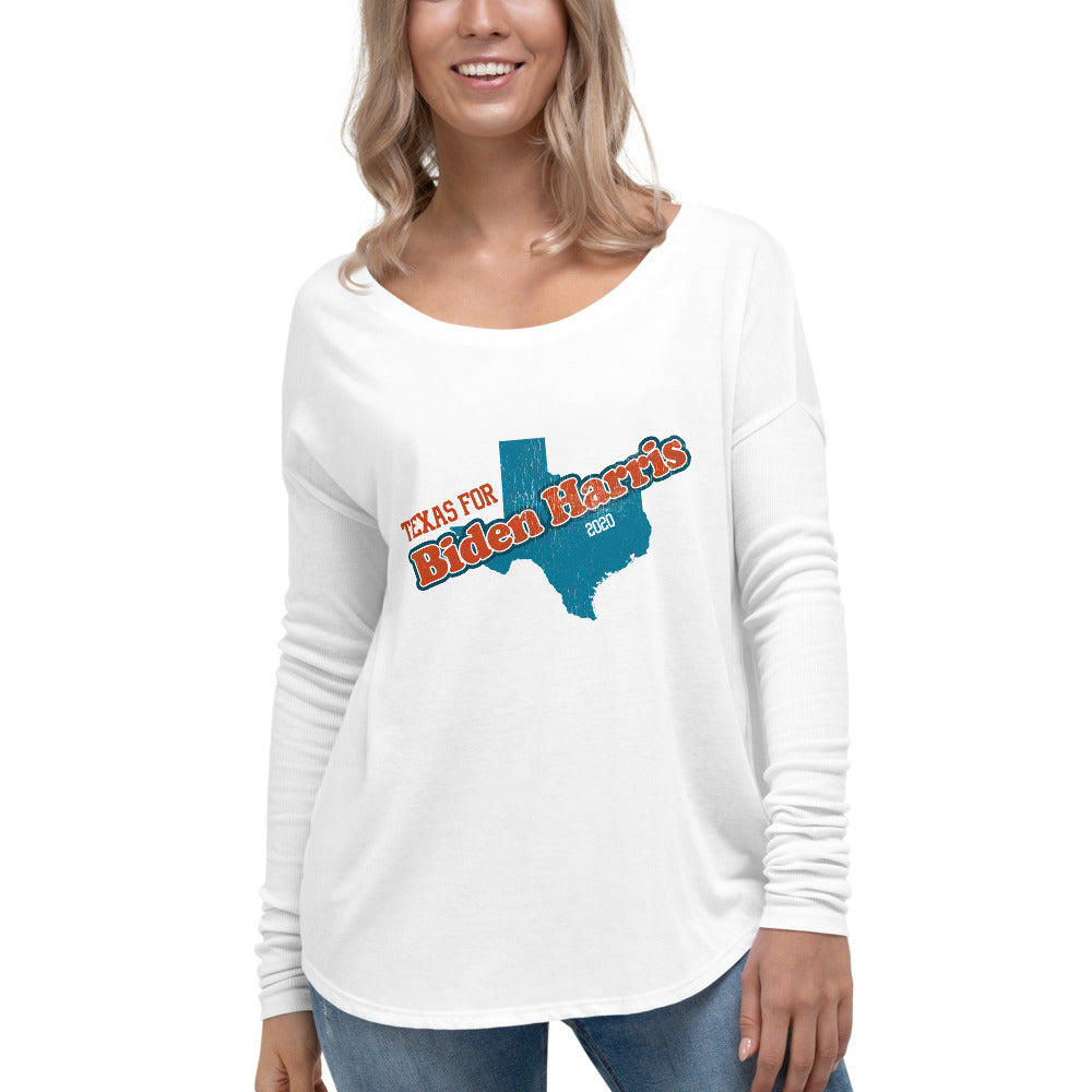 Texas Biden Ladies' Long Sleeve Tee
