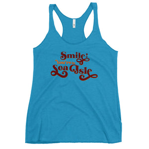 Sea Isle Smile Women's Racerback Tank