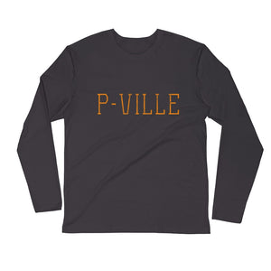 P-ville Long Sleeve Fitted Crew