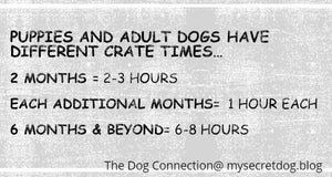 Dog crate training chart, dog exercise