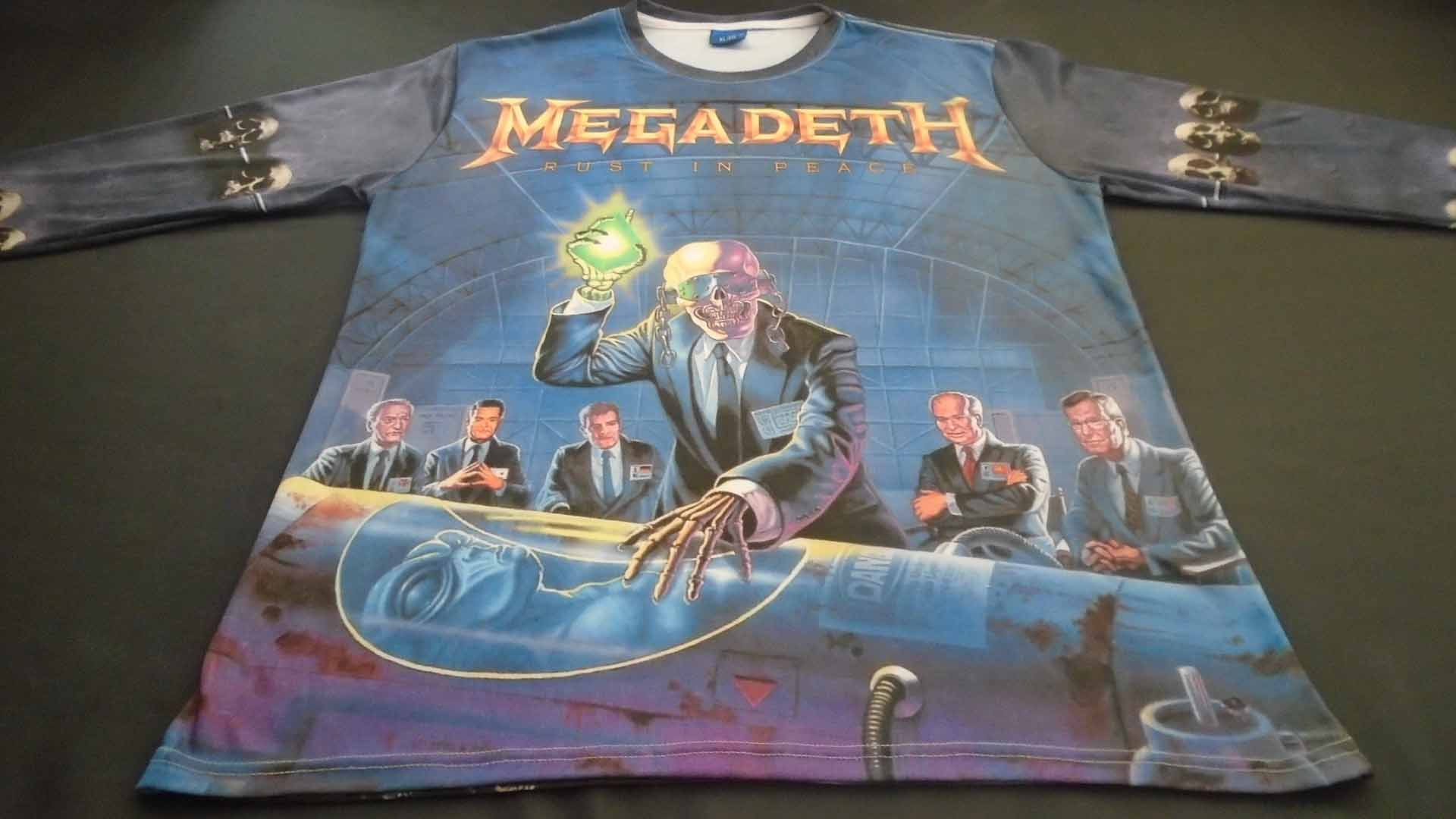 Megadeth Rust In Peace Countdown To Extinction Long Sleeve T Shirt