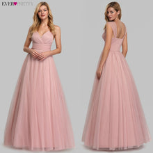 Load image into Gallery viewer, Spakle Prom Dresses Long Ever Pretty A-Line V-Neck Ruched Elegant Cheap Tulle Evening Party Gowns Vestidos Largos Fiesta 2020