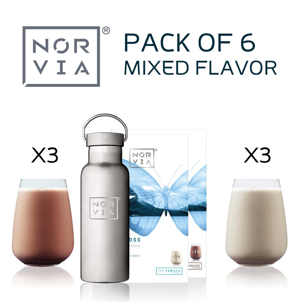 Norvia 6 pack mixed flavor