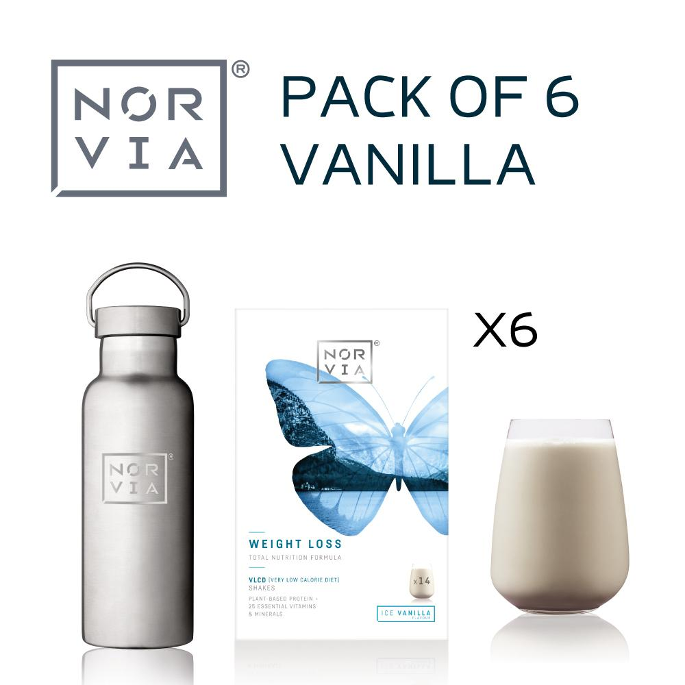 Norvia 6 pack vanille