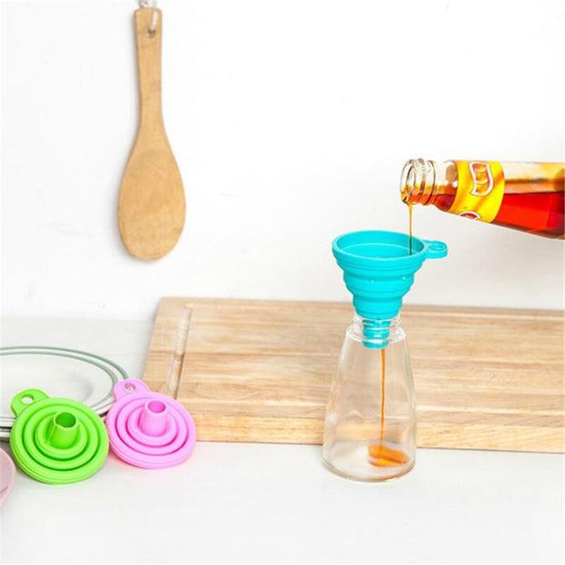 Silicone Gel Foldable Funnel Hopper