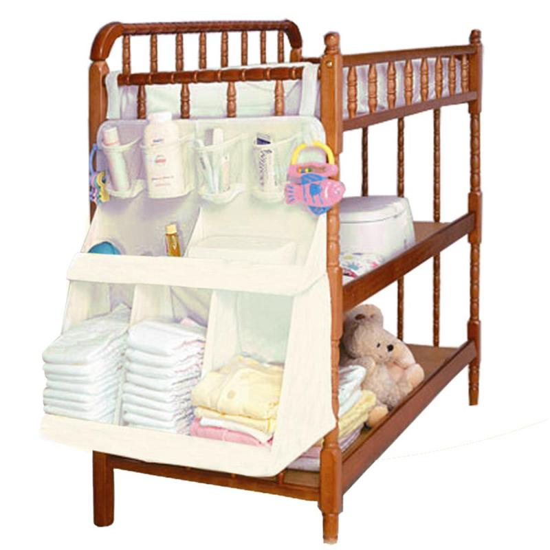 Newborn Baby Crib Bed Hanging Bag Inafnt Bedside Nappy Diapers Organizer Bag Portable Children Bedding Cloth Storage Rack Cradle