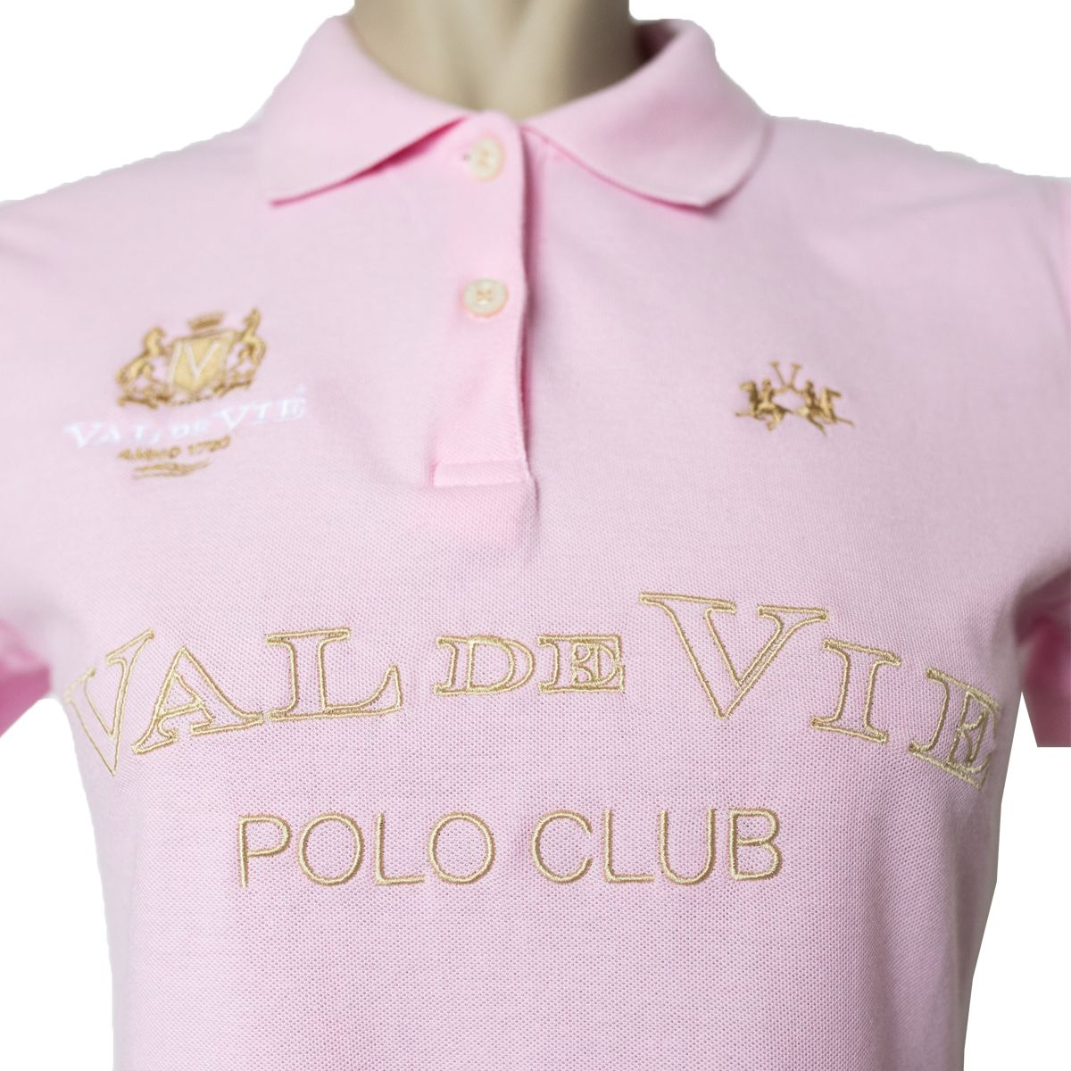 LA MARTINA VAL DE VIE LADIES POLO - PINK