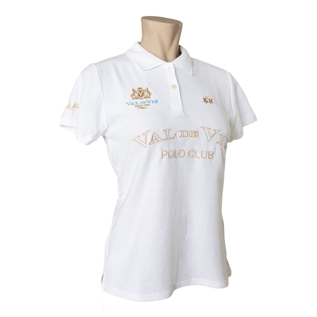 LA MARTINA VAL DE VIE LADIES POLO - WHITE