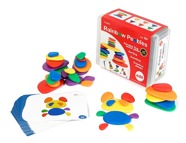 Rainbow Pebbles Set - Plastic Container