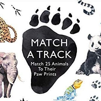 Match a Track:Match 25 Animals to Their Paw Prints  Match 25 Animals to Their Paw Prints
