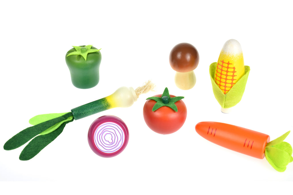 Individual Wooden Fruit and Veg