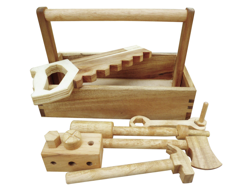 Qtoys - Natural Wooden Tool Set